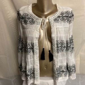 Nanette Leopore tie up blouse